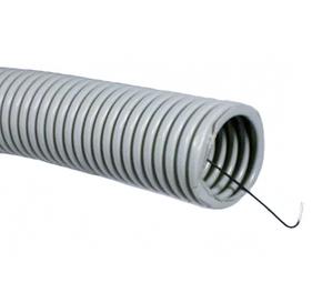 ДКС Труба ПВХ гибкая гофр. д.16мм, тяжёлая с протяжкой, 100м, цвет серый